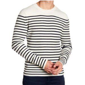 Vince Mens Breton Cashmere Striped Sweater